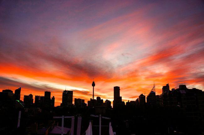 coucher de soleil sydney