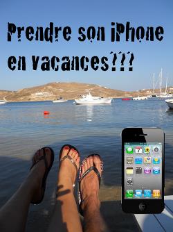 iphone vacances