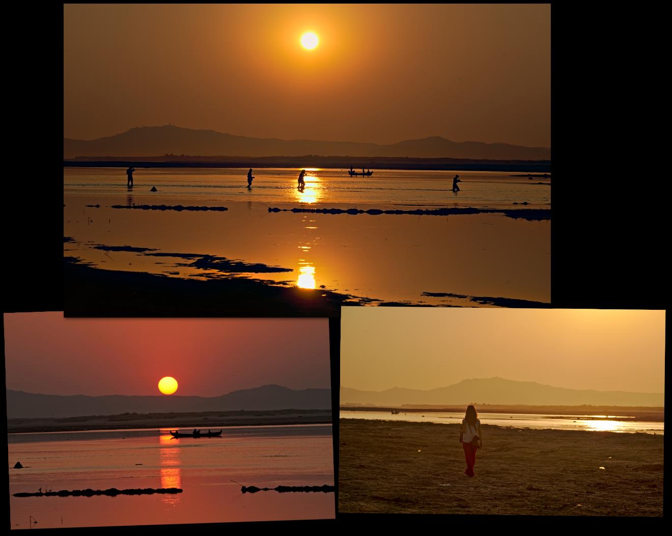 irrawady river sunset bagan