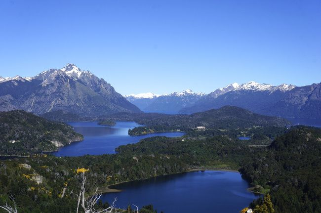 view on bariloche, patagonia