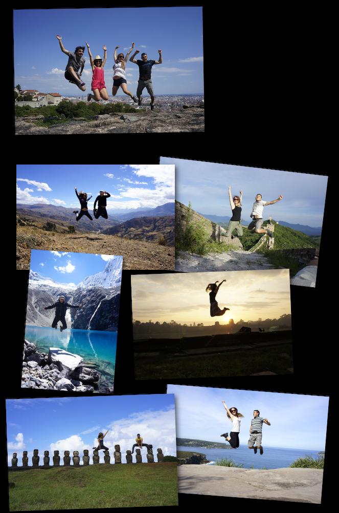 sauts à travers le monde