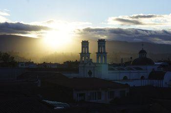 coucher de soleil, Latacunga