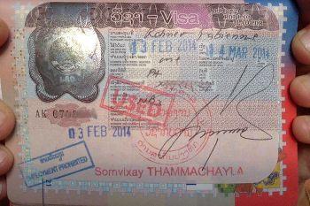 visa pour le Laos