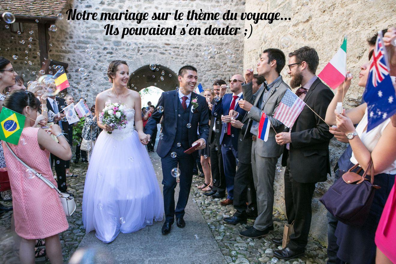 mariage thème du voyage