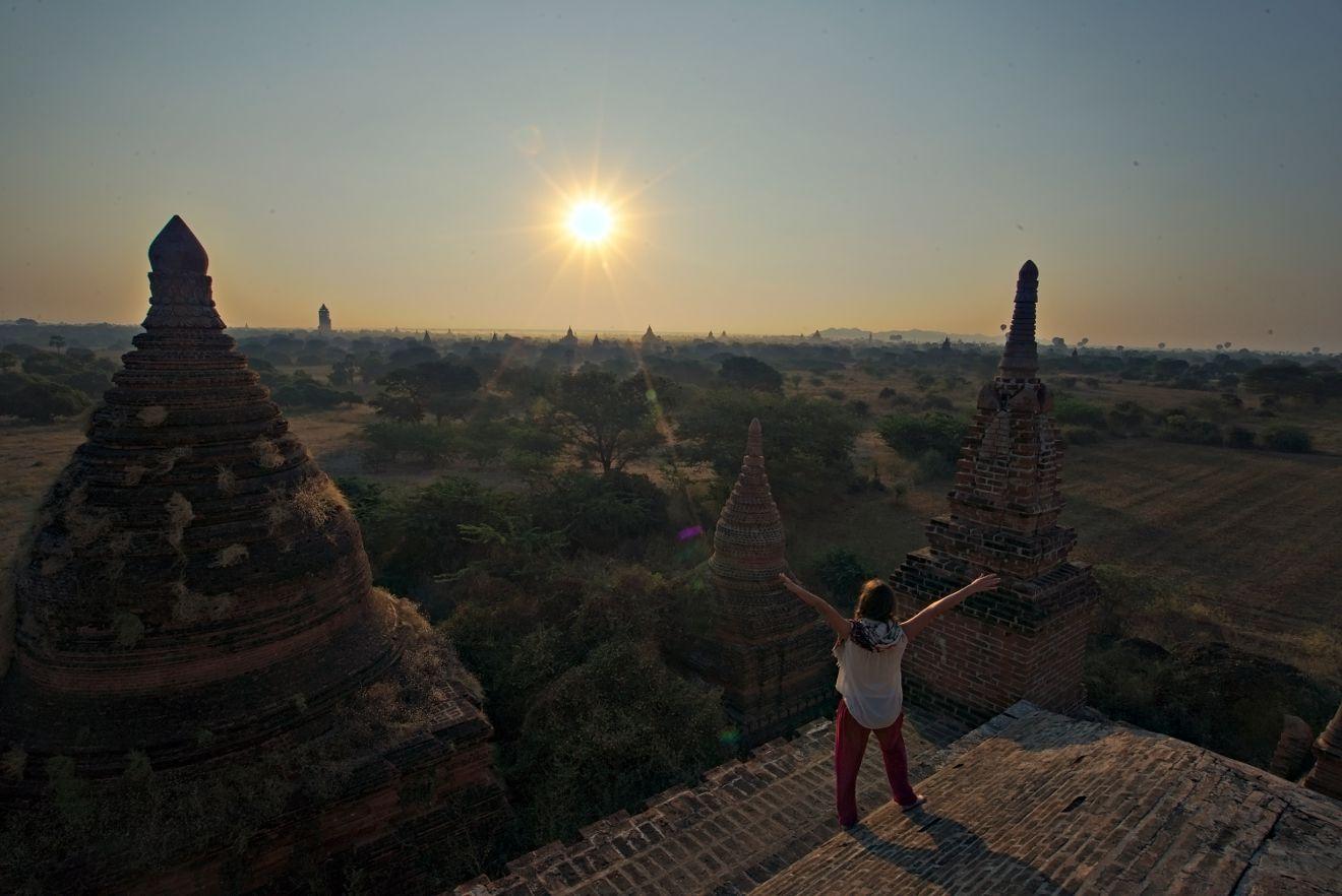 temple bagan lever de soleil