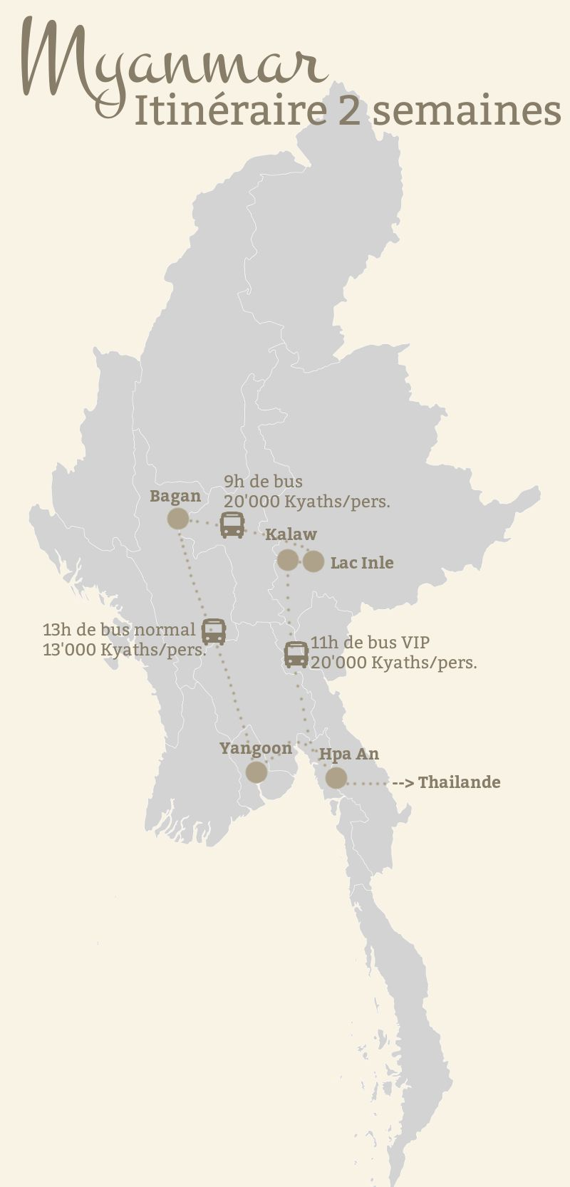 Carte Birmanie Plage.Budget Et Itineraire En Birmanie Bilan De Nos 2 Semaines De
