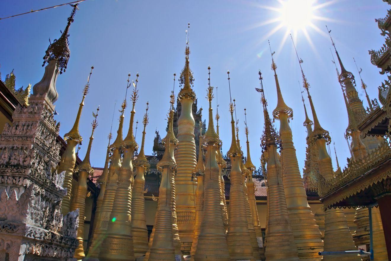 visite de la shwe indein pagoda, inle