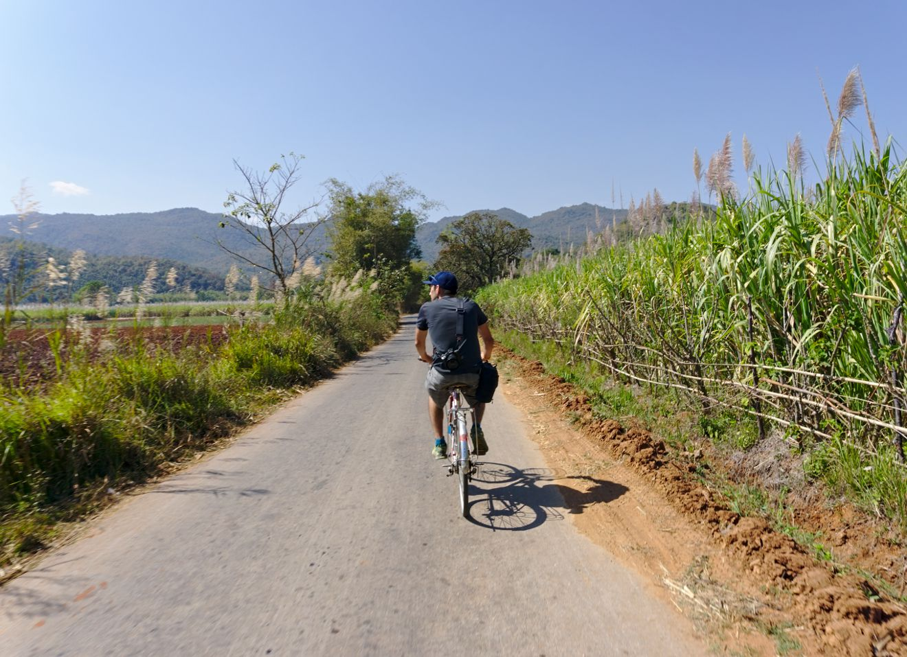 cycling in the burmese countryside