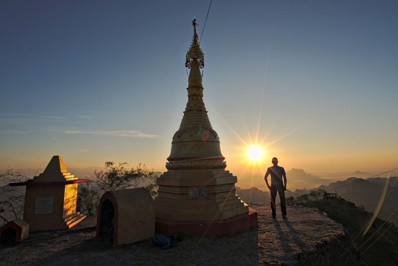 lever de soleil au Myanmar