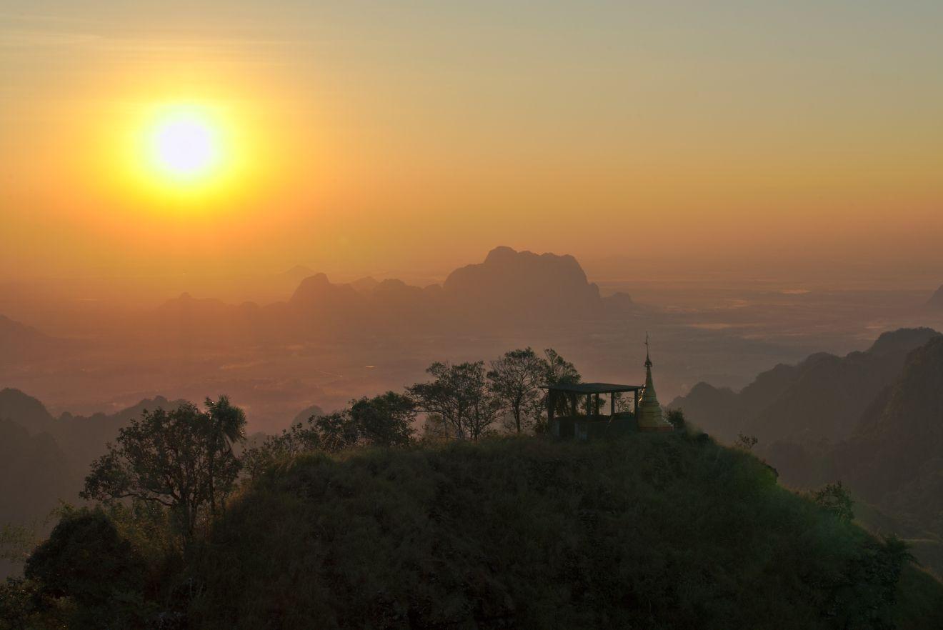 en contrebas du mont Zwekabin, Myanmar
