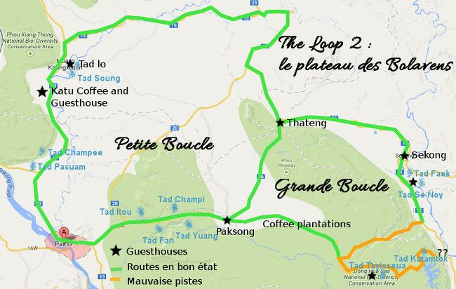 cartes du plateau des Bolavens