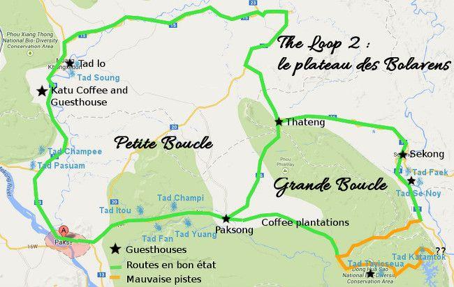 bolaven plateau map