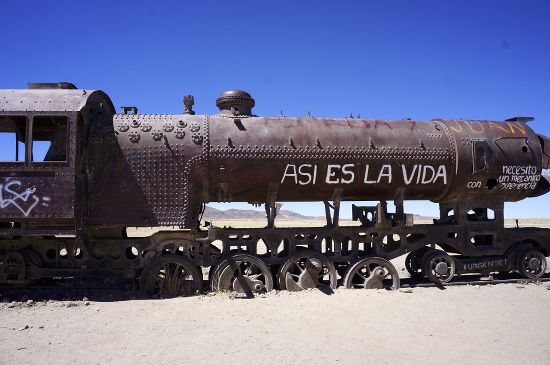 train en bolivie