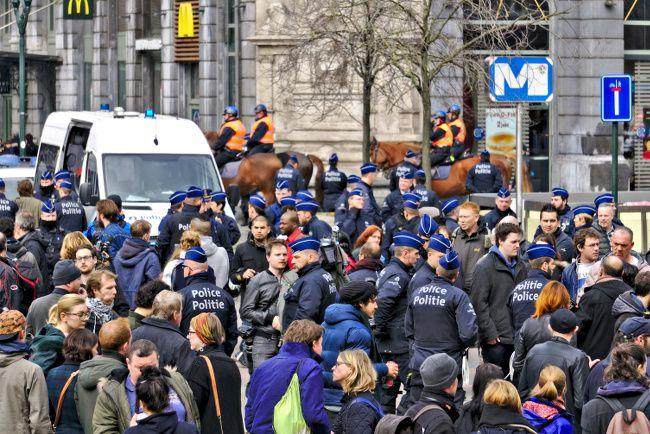présence policiaire en belgique