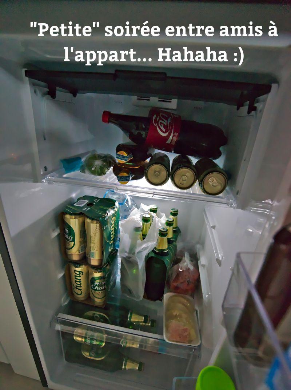 frigo rempli de bière