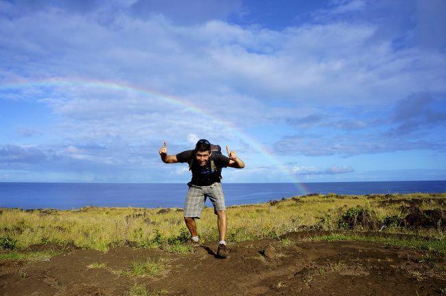 arc en ciel sur le Pacifique
