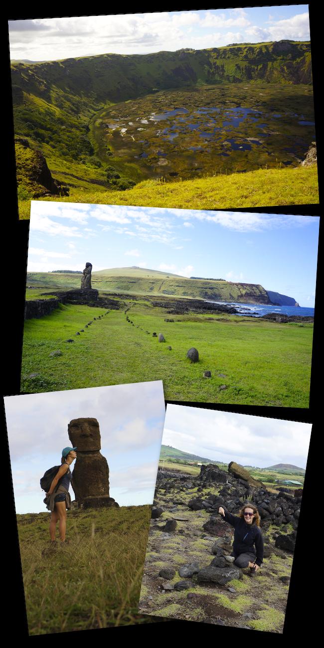 les statues de l'îles de paques