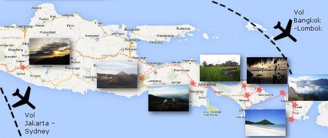 itineraire en indonesie