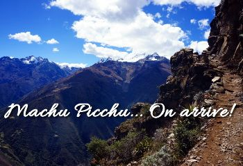 en direction du machu picchu