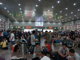 dans une gare chinoise