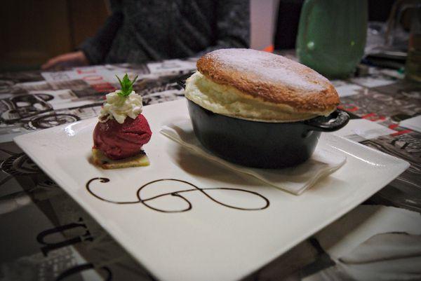 dessert en cabane à Antheme