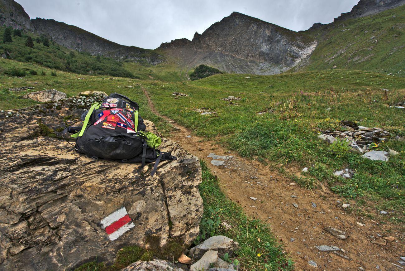 sentier de randonnée en Suisse