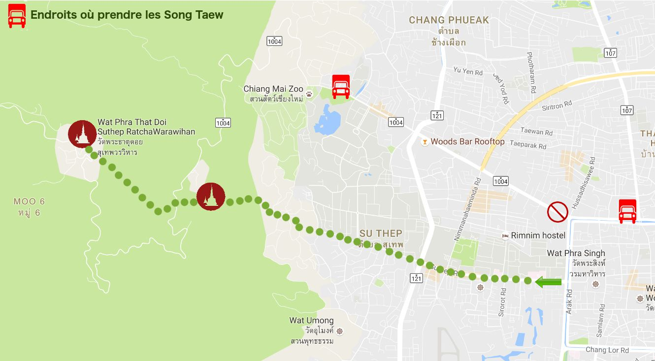 carte chiang mai, doi suthep
