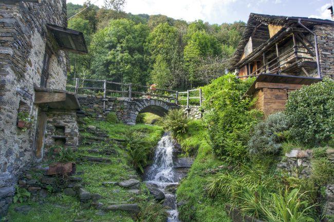cascade dans le village