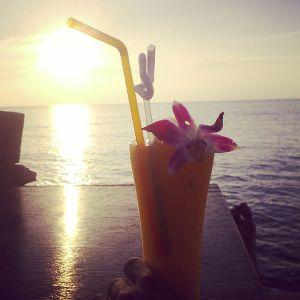 cocktail parfait sur une plage