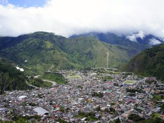 view on Banos, ecuador