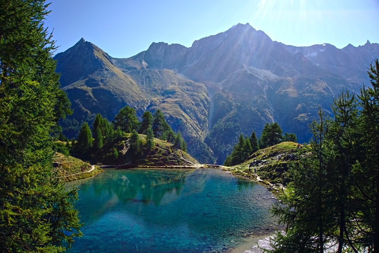 lac bleu au val d'herens