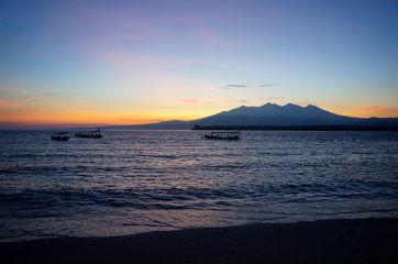 coucher de soleil sur gili Meno