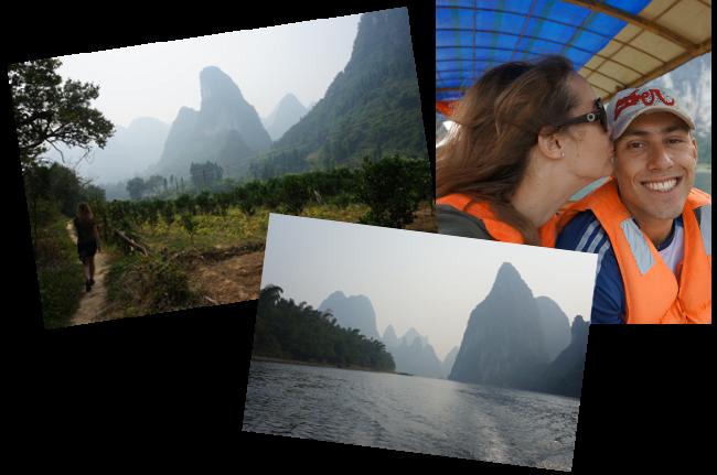 sur la rivière Li en Chine