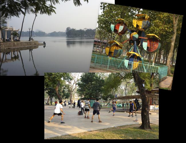 sport et nature dans la capitale vietnamienne