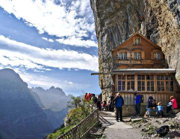 L 39 h tel aescher chalet dans la montagne en appenzell - Hotel de montagne suisse ...