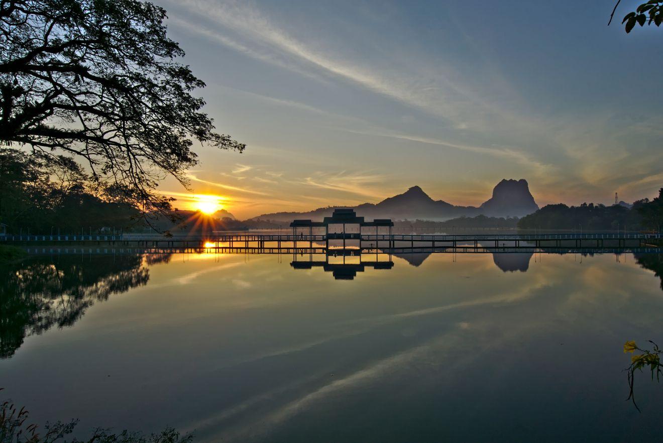 hpa-an sunrise