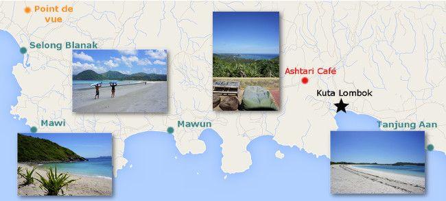 map kuta beaches