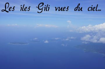 photo aérienne des gili