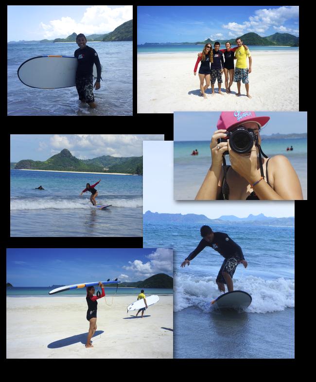 surfeurs en action