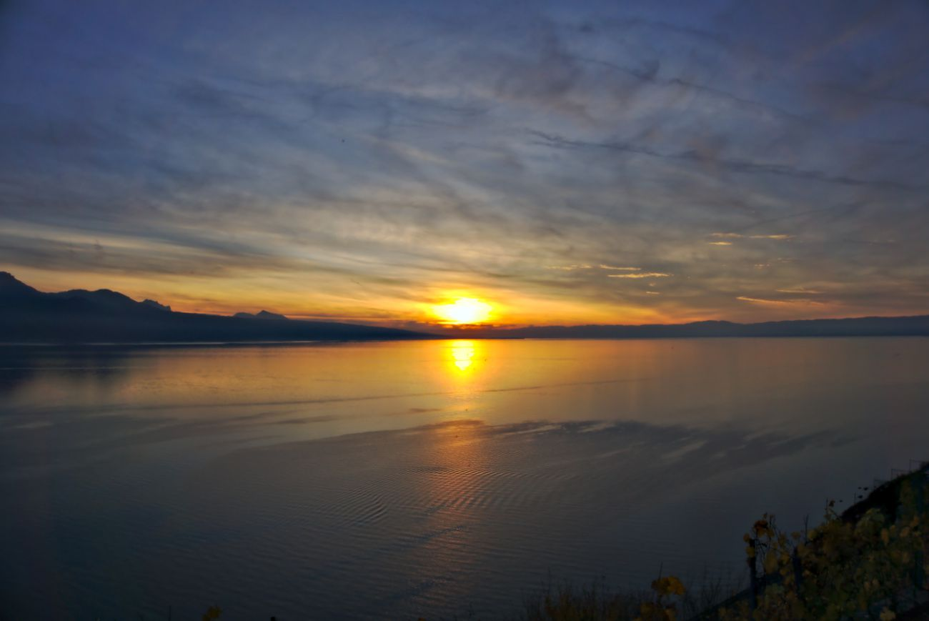 sunset lavaux