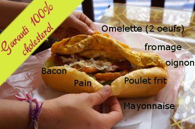 sandwich in Vang vieng