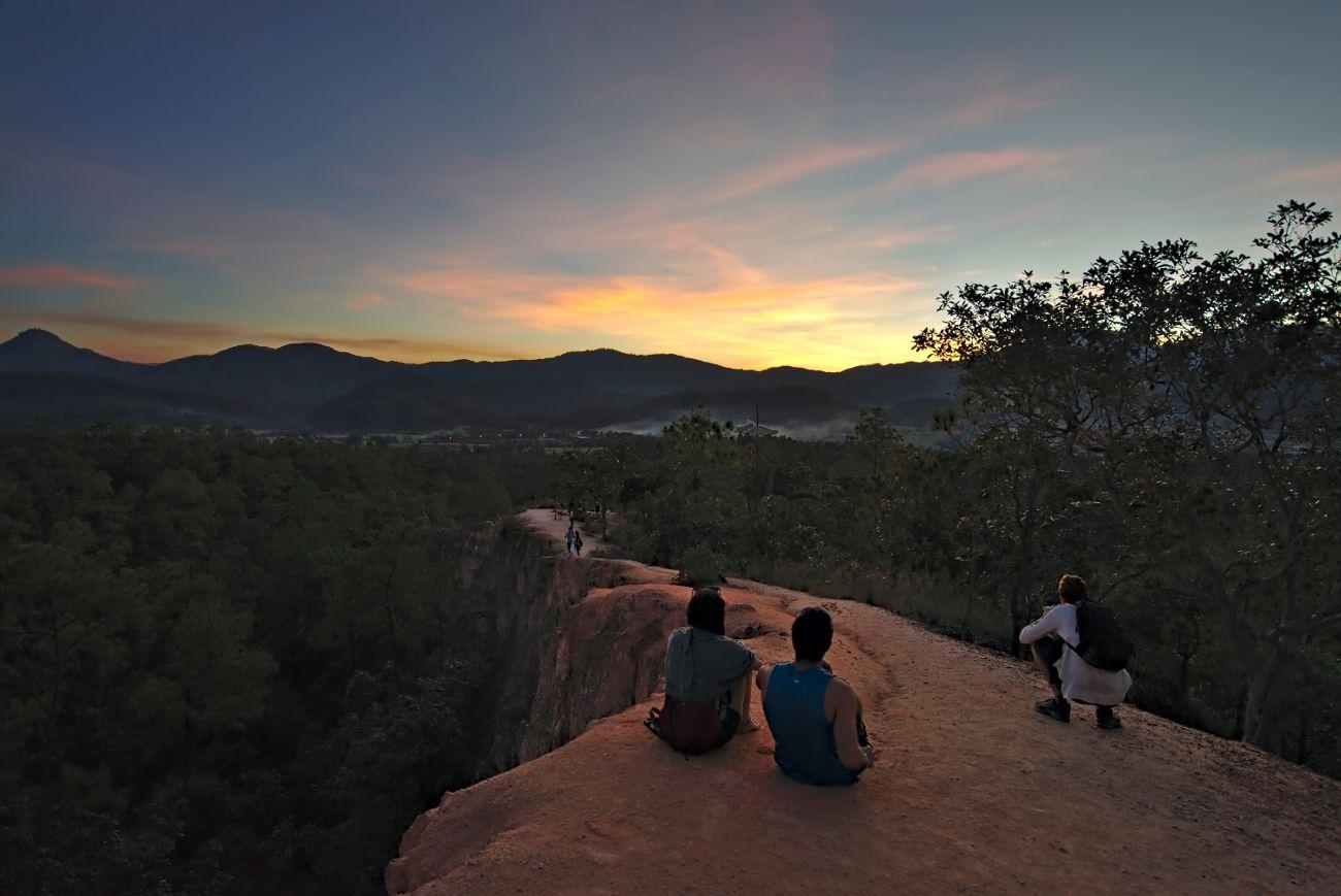 pai canyon, coucher de soleil