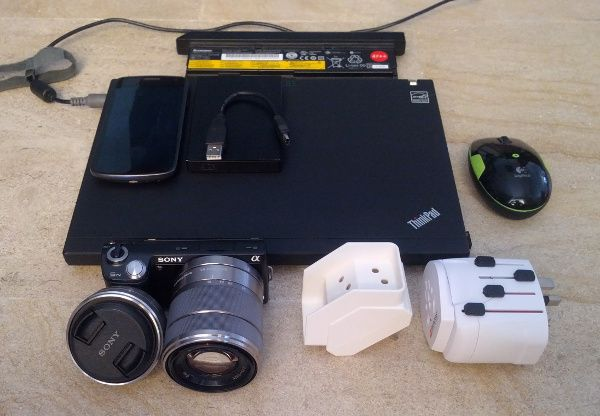 electronic gear around the world trip