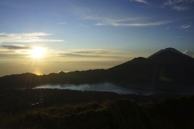 volcan indonesie, lever de soleil