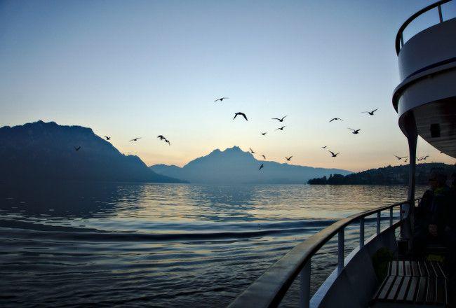 trajet en bateau sur le lac de lucerne