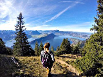 randonnée en suisse: le lac des quatre cantons