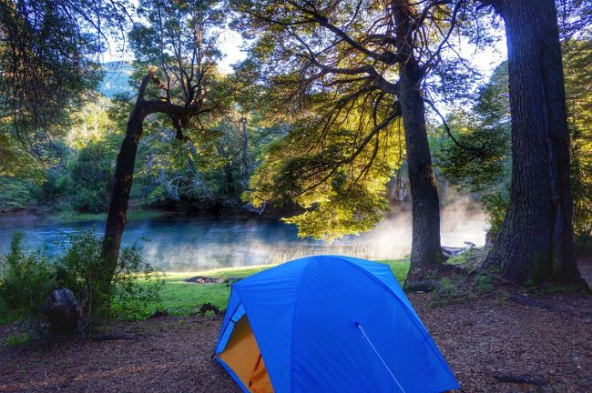 perfect camping spot in patagonia