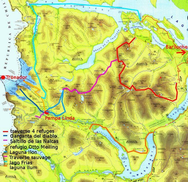map Nahuel Huapi