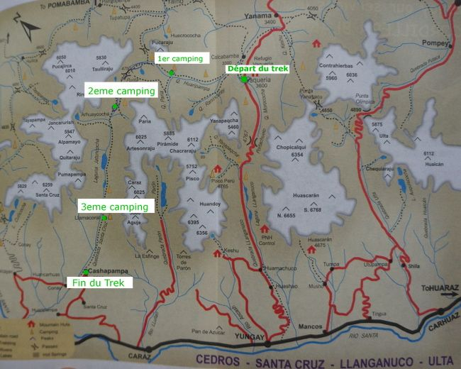 santa cruz trek map