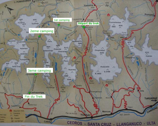 santa cruz trek map